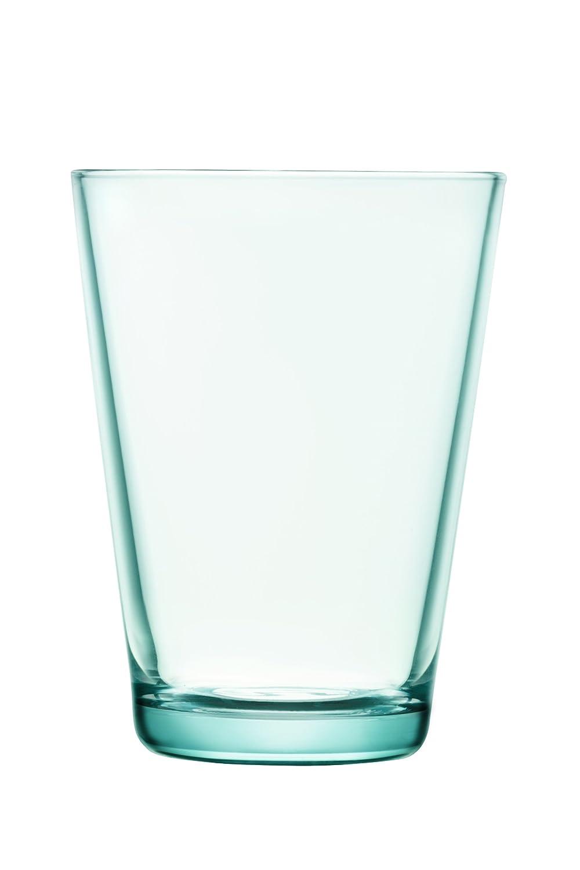 amazoncom iittala home  kitchen - iittala kartio set of two glass tumblers water green ounce capacity