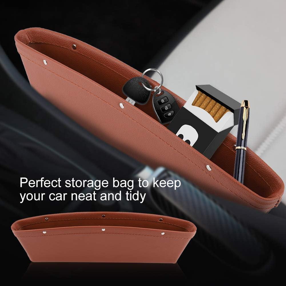 TOPINCN Pu-Leder Fahrersitz Slot Aufbewahrungstasche Slit Pocket Organizer Compartment Auto Aufbewahrungsbox f/ür Telefon Computer Tasten Snacks Grau