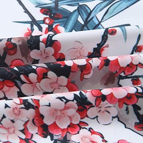 Mujer Tops Mujer de Invierno Casual Abrigo Azul Bombardero SHOBDW Retro Venta para Chaqueta Larga otoño Manga Flor Outwear Cremallera Liquidación I1RqEwRa