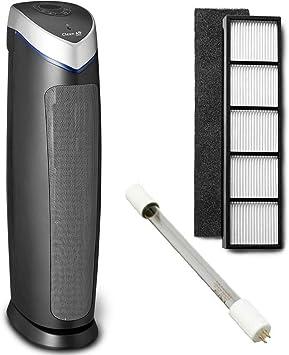 Pack ahorro 1 año! Purificador de aire con ionizador Clean Air Optima CA-508 + Lámpara UV y filtro Hepa de recambio ...