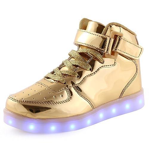 1e7062616af1 KEVENI Kids Boys Girls High Top USB Charging Led Shoes Light Up Flashing  Shoes Fashion Sneakers