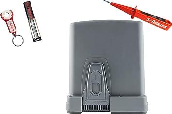Sommer STArter - Accionamiento para puertas correderas (300 kg, emisor manual 4020 con remolque ADAMS 3 en 1 C y comprobador de corriente ADAMS): Amazon.es: Bricolaje y herramientas
