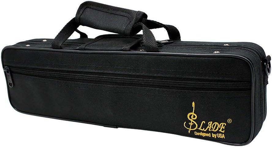 Unitedheart Flute Case Gig Bag Backpack Box Water-Resistant 600D Foam Cotton Padding With Adjustable Single Shoulder Strap Flute Case