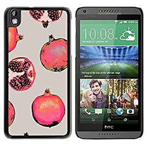 For HTC DESIRE 816 , S-type® Red Fruit Painting - Arte & diseño plástico duro Fundas Cover Cubre Hard Case Cover