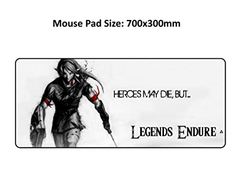 Amazon com: XL Large Mouse pad mice mat Precision Lock for Legend of