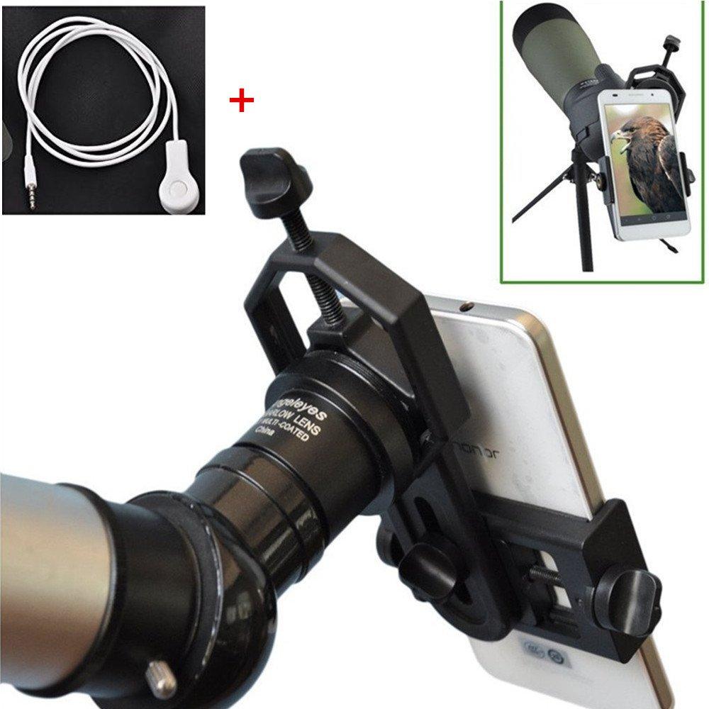 Mount Compatible Binocular Monocular Materials Safe Universal Cell Phone Adapter