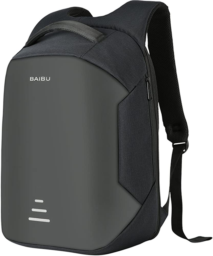 Anti-theft Travel Laptop Backpack. Business knapsack with USB Charge Port 15.6""