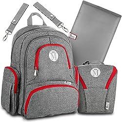 Baby Diaper Bag Backpack for Girls & Boys –Large Diaper Backpack Organizer W/Stroller Straps & Baby Wipes Pocket. Bonus Bottle Cooler Bag & Infant Changing Pad. Perfect Baby Shower Gift for Mom & Dad