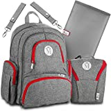 Baby Diaper Bag Backpack for Girls & Boys –Large Diaper Backpack Organizer W/Stroller Straps & Baby Wipes Pocket. Bonus Bottle Cooler Bag & Infant Changing Pad. Perfect Baby Shower Gift for Mom & Dad