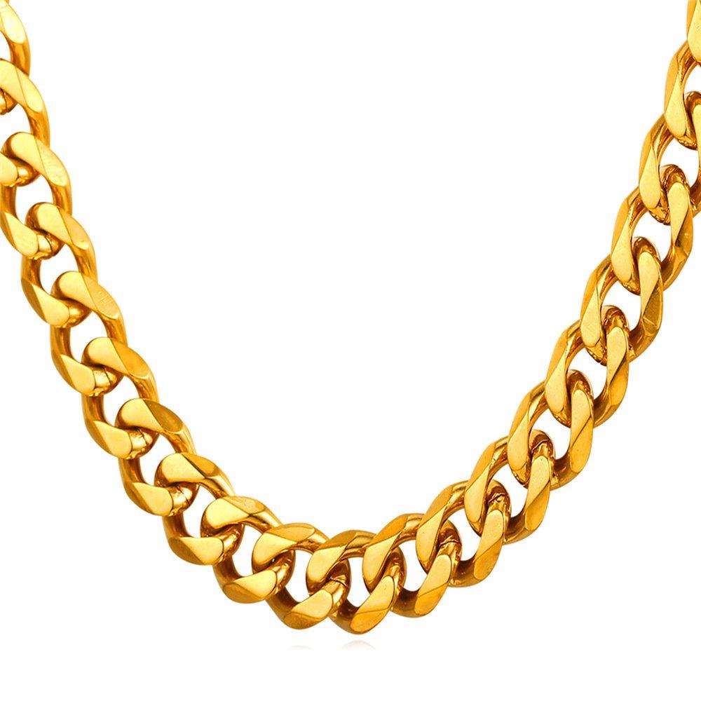 U7 New Fashion Men Jewelry Stainless Steel Base Curb Cuban Chain, 3MM-12MM Wide, 18-30 Inch Men Chain 18'' U7 Jewelry U7 GN2273K-18