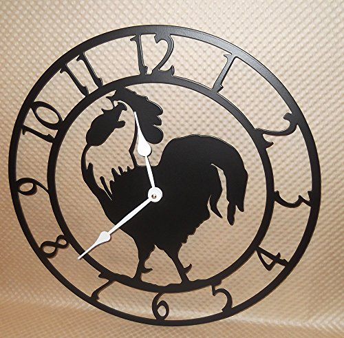 rustic chicken clock - 7