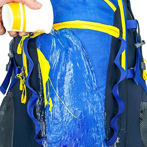 40L De Gran Capacidad De Al Aire Libre Al Aire Libre Mochila Hombres Y Mujeres De Ocio De Viajes Doble Bolsa De Hombro,SpringGreen Blue