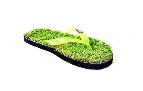 d178eeed8837 Generic Men s Blue Sky Grass Green Synthetic Slippers - 7  Buy ...