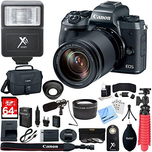Canon EOS M5 Mirrorless Digital Camera Black + EF-M 18-150mm