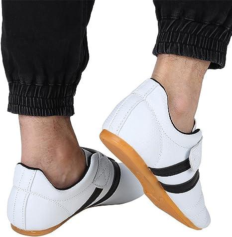 Gummisohle Traditionelle Strapazierf/ähigem Atmungsaktive Kampfkunst Schuhe-f/ür M/änner Erwachsene T/äglich Ausbildung Kampfkunst,35-A1 FENGZ Taekwondo Schuhe Herren