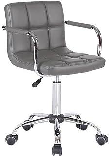 white luxury office chair. PU Faux Leather Computer Office Desk Swivel Studio Salon Barber Wheels Chair (Grey) White Luxury