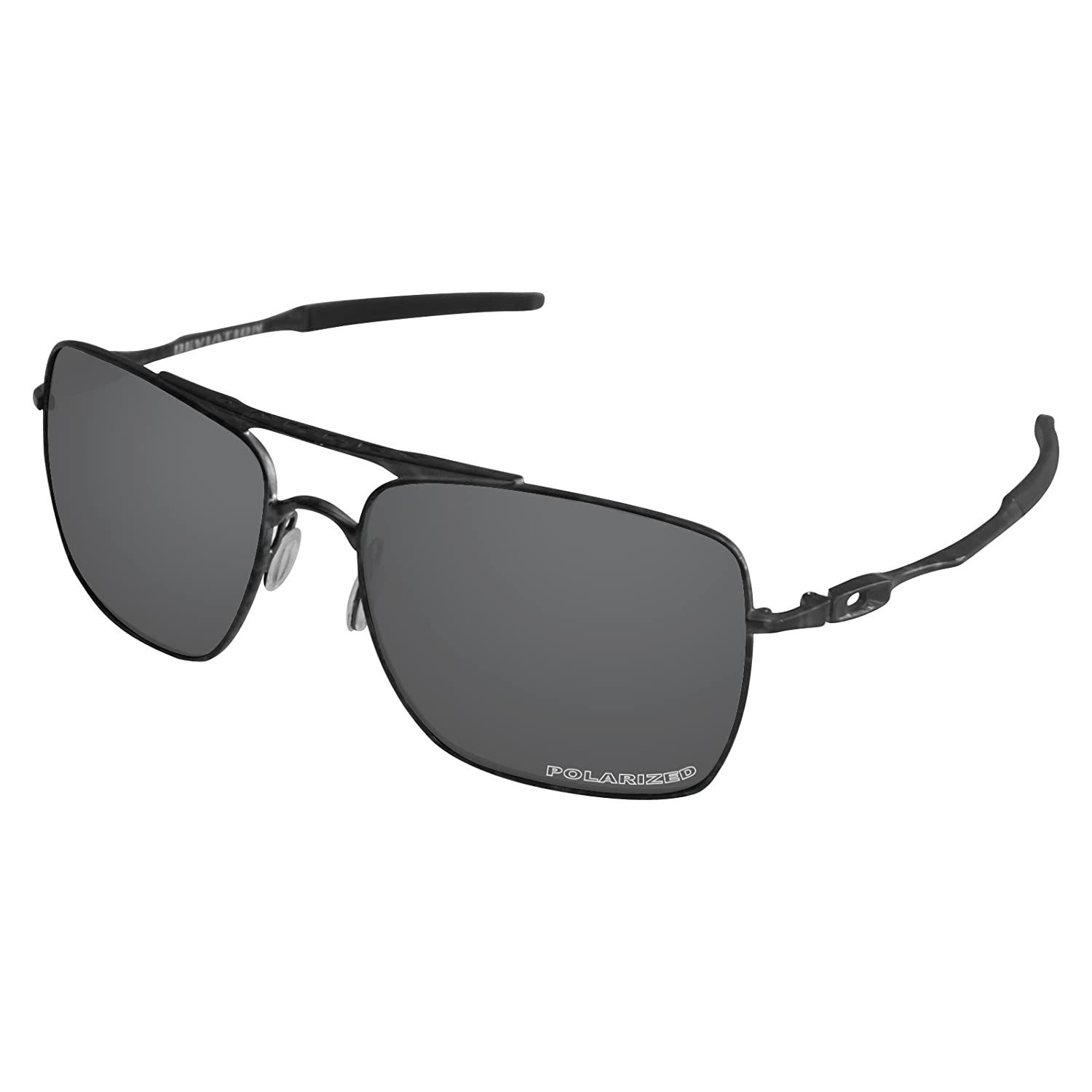 19ddbcf612 Amazon.com  Tintart Performance Lenses Compatible with Oakley Deviation  Polarized Etched-Carbon Black  Clothing