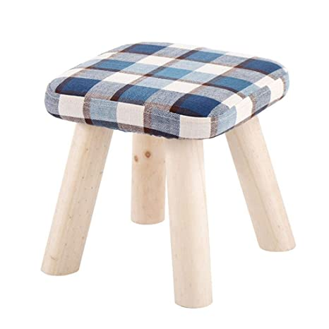 Stupendous Amazon Com Tingting Stools Blue Plaid Creative Square Bralicious Painted Fabric Chair Ideas Braliciousco