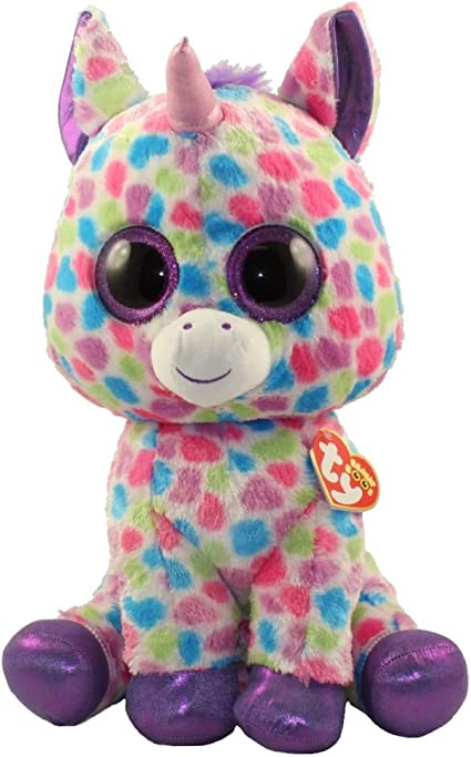 Stuffed Squirrel Animals, Amazon Com Ty Beanie Boos Wishful Unicorn Large Justice Exclusive Toys Games