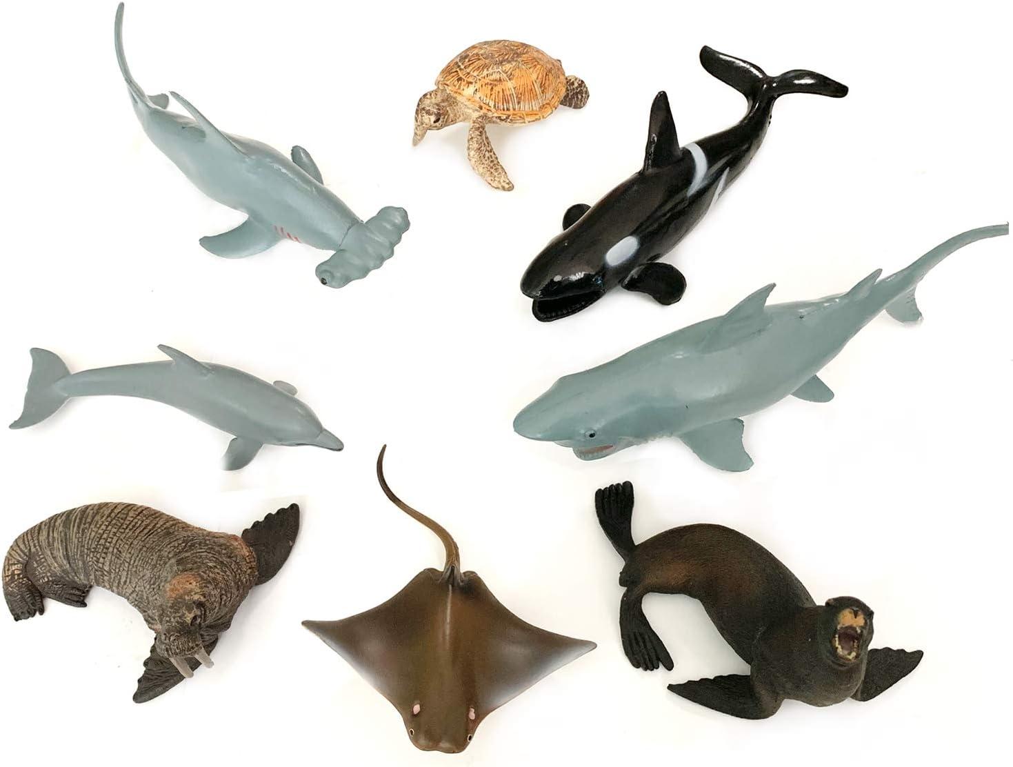 ^18cm Hammerhead Shark Realistic Sea Animal Figure Solid Plastic Toy Gift Model^