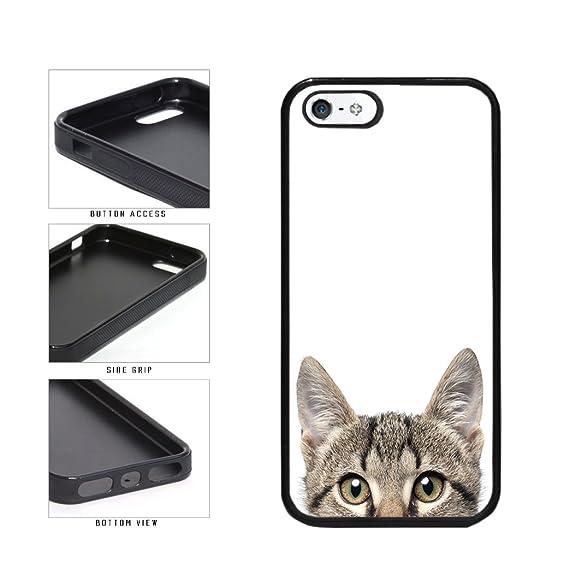 Amazon.com: bleureign (TM) Cute Cat Peeking TPU de goma de ...