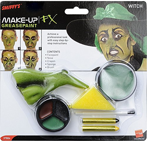 SMIFE Smiffys Witch Make-Up Kit Facepaint Nose -