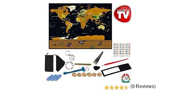 Mapa del mundo para rascar mapa mundi 83x70cm, rasca los lugares ...