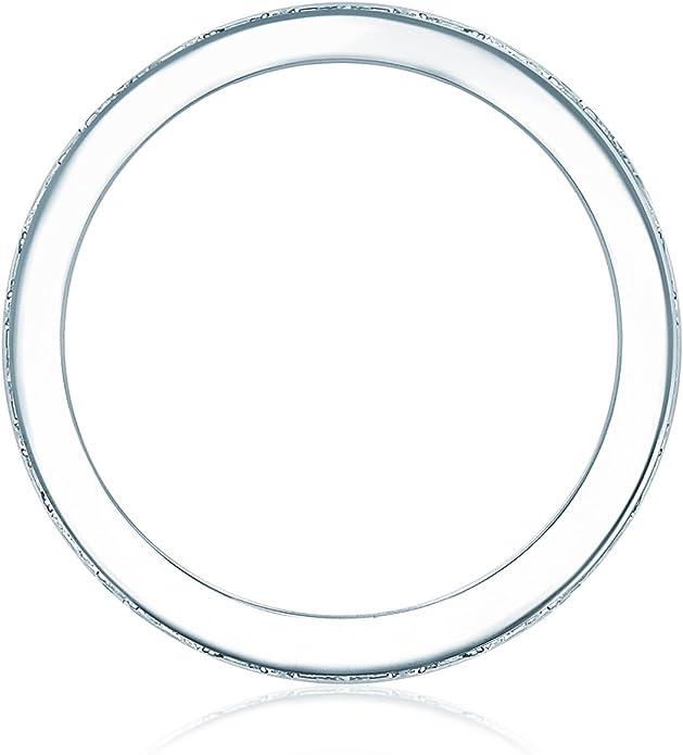 Bague de fian/çailles Bague dalliance argent Sterling 925//1000 oxyde de zirconium incolore 60181000 Tresor 1934 Bague femme