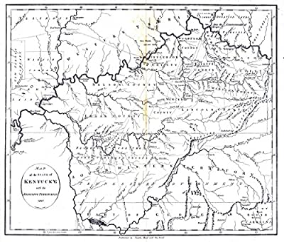 National Atlas | 1796 State of Kentucky. | Historic Antique Vintage Map Reprint |
