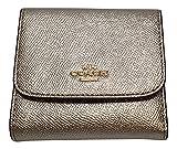 Coach Crossgrain Small Slim Wallet Platinum F21069