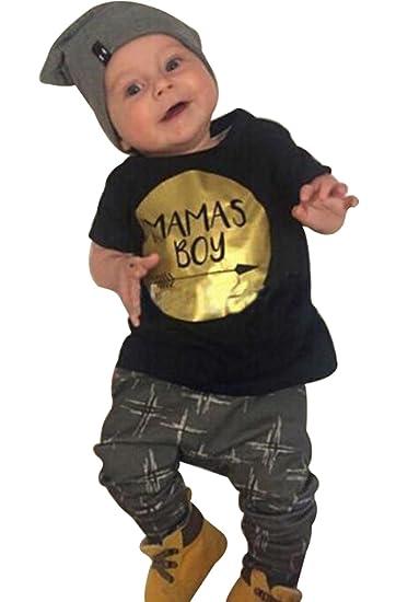c848dba302ea EGELEXY 2pcs Newborn Infant Baby Boys Kid Clothes T-Shirt Tops + Pants  Outfits Sets