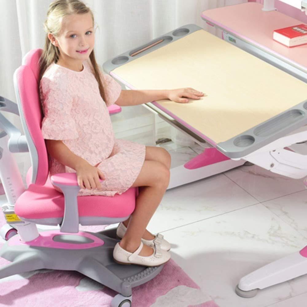 Xiuyun kontorsstol spelstol korrigerande stol dubbel ryggstol ryggstöd datorstol barnarbetsstol 4 färger valfri svängbar stol (färg: A) c