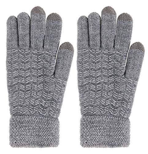 Arctic Paw Mens 3 Finger Touchscreen Sensitive Knit Winter Gloves