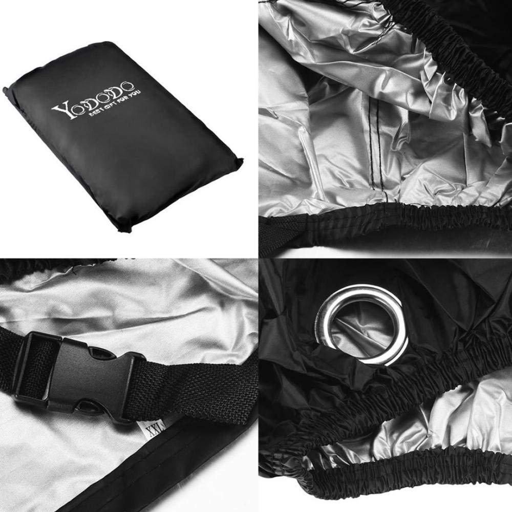MANYYSI Moto Lluvia Abrigo de Moto Cubierta Exterior de protección Solar Resistente al Agua Anti Viento Polvo UV Protector de Lluvia Humedad Nieve con ...