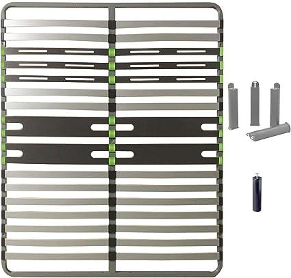 altozone – Pack 2 x 16 somier (140 x 200 cm + patas gris + ...