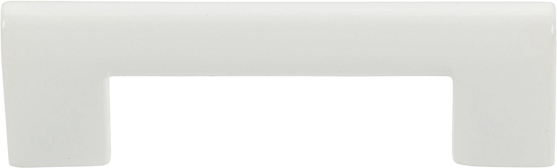 Atlas Homewares A878-WG Successi Round Rail Pull, 3.71-Inch, High White Gloss