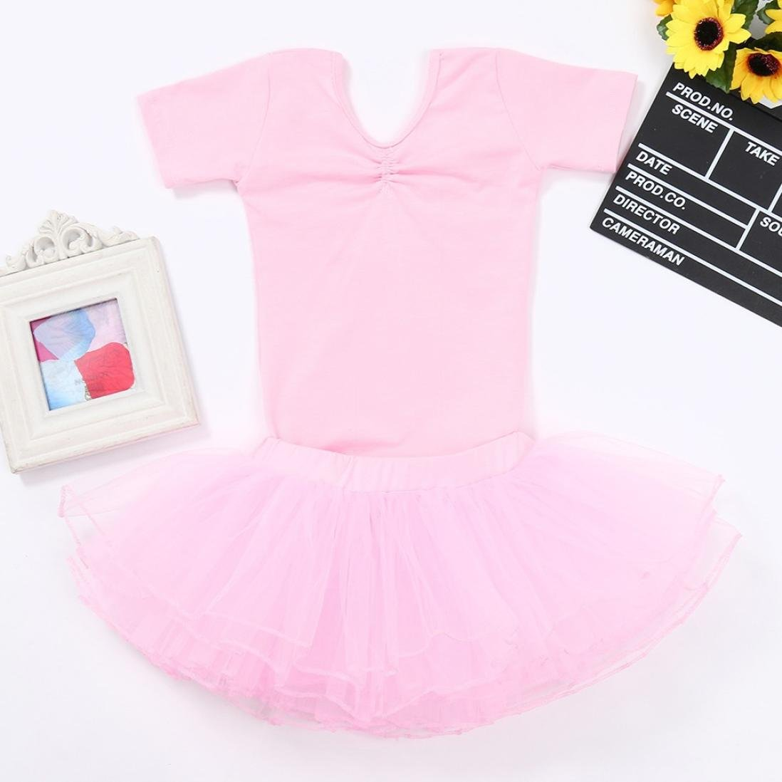 Ballet Dance Tutu Skirt Clothes Outfits Lisin 2PCS Children Kids Girls Dance Romper