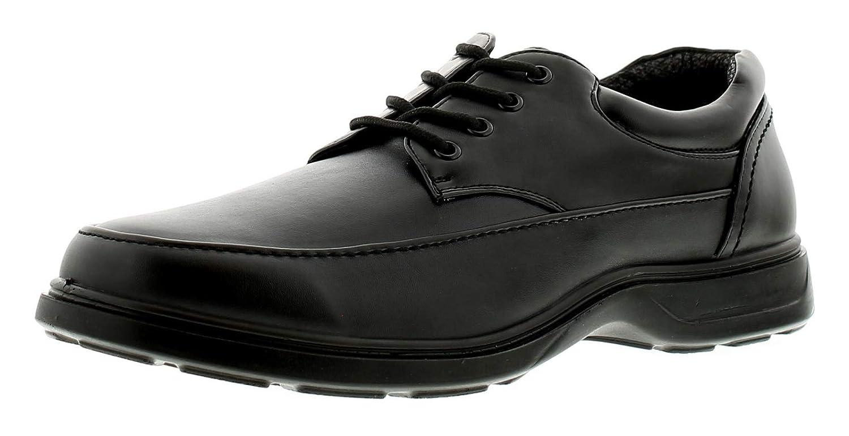 Neuf pour Hommes/Hommes Noir Confort à Lacets Décontracté Chaussures. Pied Large Noir - Tailles UK 13-15 47 Comfisole