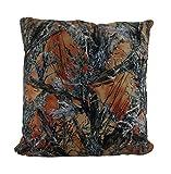 Zeckos Polyester Throw Pillows Orange Mc2 True Timber Camo Sherpa Microfiber Throw Pillow 18 in. 18 X 18 X 7 Inches Orange