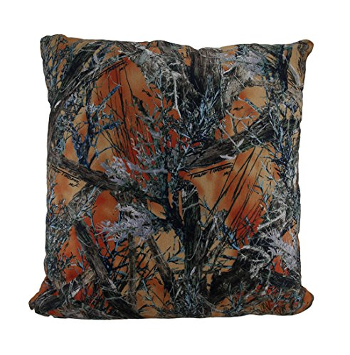 Zeckos Orange MC2 True Timber Camo Sherpa Microfiber Throw Pillow 18 in. (Mc2 E Pillow)