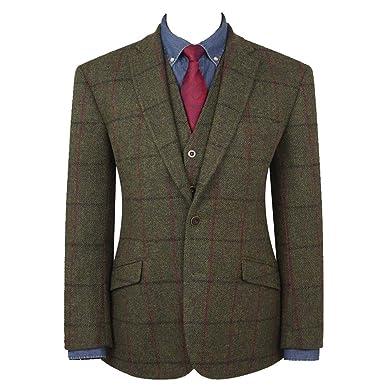 85bfa959ec824 Men's Oransay Harris Tweed Jacket by Brook Taverner: Amazon.co.uk ...