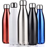 BELLOO 500ml/ 750ml/ 1000ml Sports Water Bottles Insulated Stainless Steel Vacuum to Keep Hot and Cold, Perfect For Camping Hiking Cycling