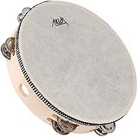 """AKLOT 10"""" Hand Held Pandereta Tambor Campana 8 Pares Metal Jingles Instrumento de Percusión Juguete para KTV Party…"""