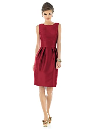 Forever Womens Sleeveless Cocktail Length Dress With Large Bow by Alfred Sung - Barcelona - Size