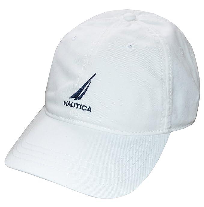 linda estilo de moda estilo exquisito Nautica Men Adjustable Logo Hat Cap (One Size, White): Amazon.com ...