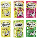 Temptations Treats for Cats - Beef - Chicken - Seafood - Mix-Ups - 85g (6 Pack)