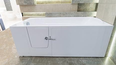 Sedile per vasca da bagno 160 x 76 cm IMPRESSION anziani sinistra ...