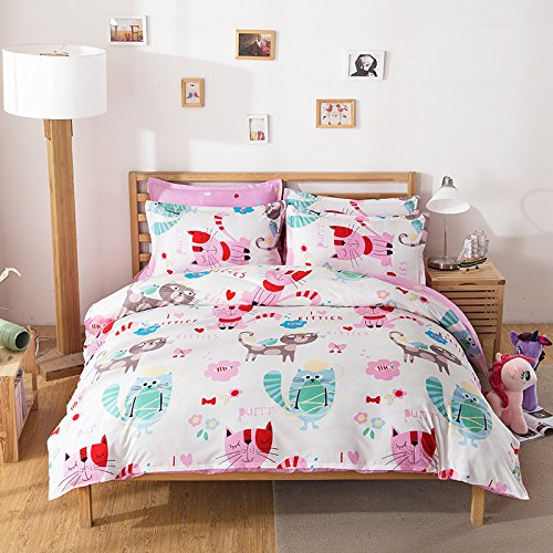 fashion design kids bedding sets no comforter 4pcs bedsheet duvet cover pillow cases twin full. Black Bedroom Furniture Sets. Home Design Ideas