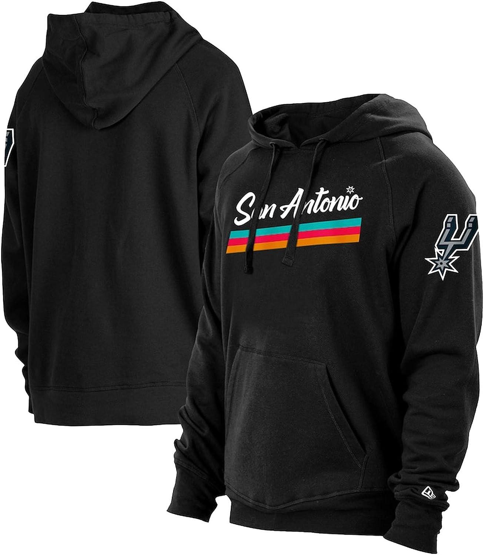 Spurs Sweatshirt Fleece Pullover New Era Black 2020//21 Stadtauflage Hoodie Shirts S-3XL San Antonio Spurs Hoodie f/ür M/änner und Frauen