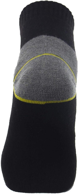 Altezza Caviglia Punta e Tallone Rinforzati Misure 40 Poligono Calze da Lavoro Uomo 46 in Cotone Spugna